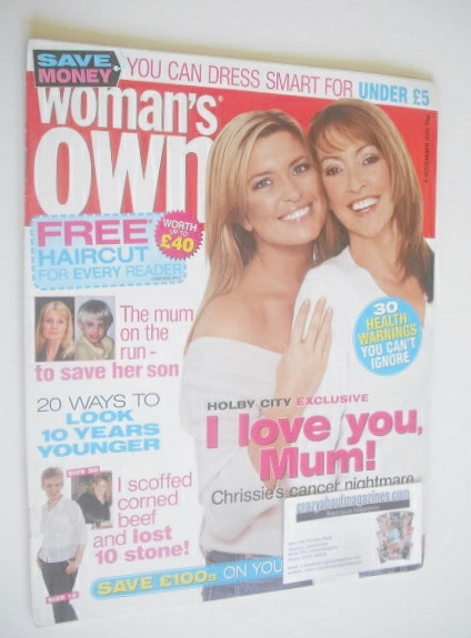 <!--2004-11-08-->Woman's Own magazine - 8 November 2004 - Sharon Maughan an