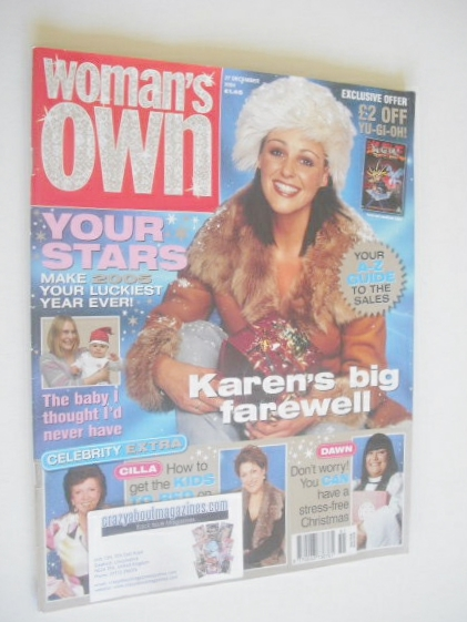 <!--2004-12-27-->Woman's Own magazine - 27 December 2004 - Suranne Jones co