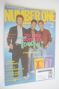 NUMBER ONE Magazine - A-Ha cover (3 September 1988)
