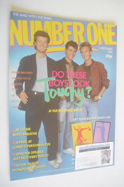 <!--1988-09-03-->NUMBER ONE Magazine - A-Ha cover (3 September 1988)