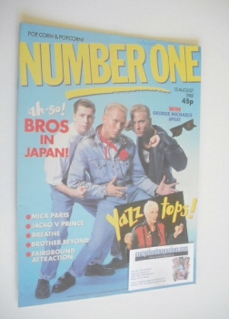 NUMBER ONE Magazine - Bros cover (13 August 1988)