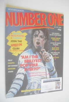 NUMBER ONE Magazine - Michael Jackson cover (30 July 1988)