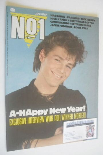 <!--1987-01-03-->No 1 Magazine - Morten Harket cover (3 January 1987)