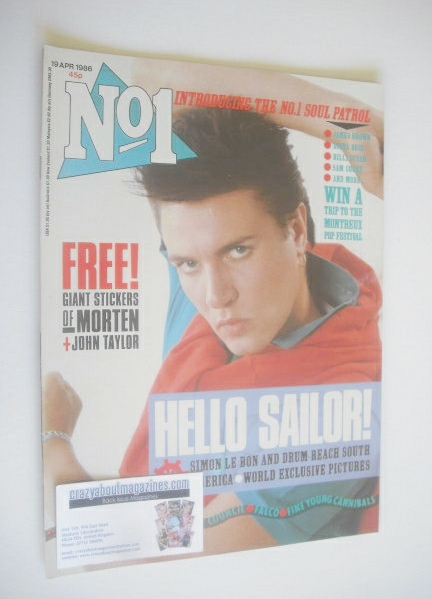 <!--1986-04-19-->No 1 Magazine - Simon Le Bon cover (19 April 1986)