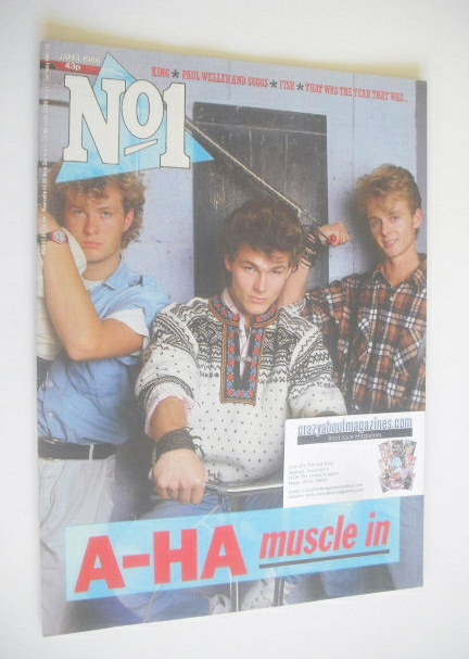<!--1986-01-04-->No 1 Magazine - A-Ha cover (4 January 1986)