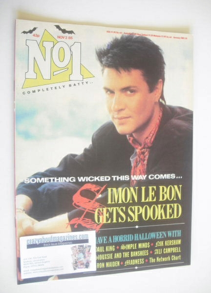 <!--1985-11-02-->No 1 Magazine - Simon Le Bon cover (2 November 1985)