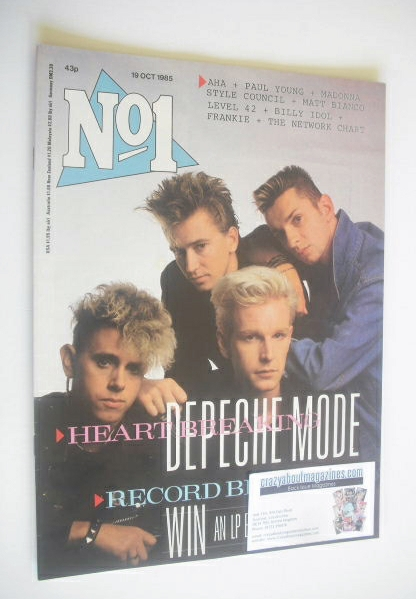 <!--1985-10-19-->No 1 Magazine - Depeche Mode cover (19 October 1985)