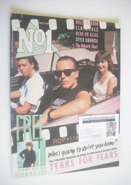 <!--1985-10-05-->No 1 Magazine - Tears For Fears and Pauline Alston cover (
