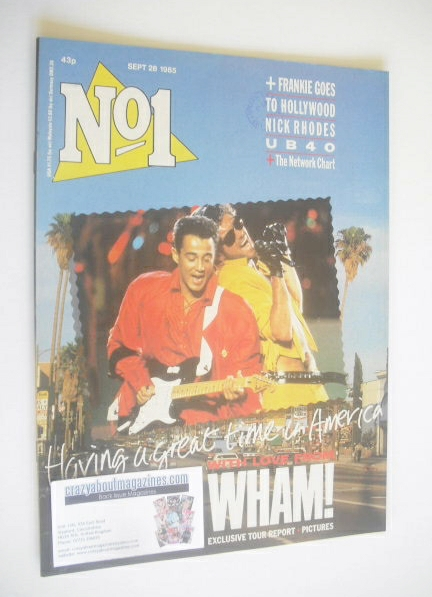 <!--1985-09-28-->No 1 Magazine - Wham! cover (28 September 1985)
