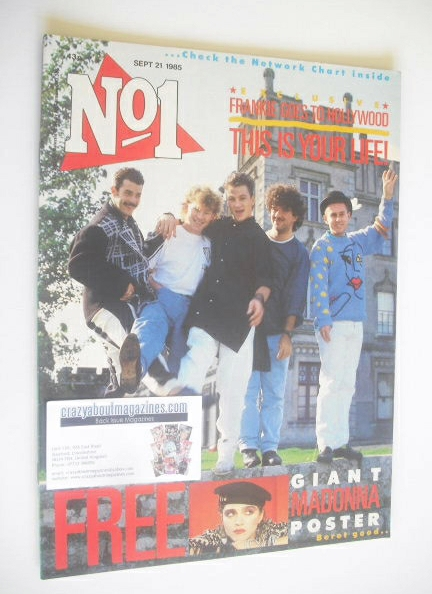 <!--1985-09-21-->No 1 Magazine - Frankie Goes To Hollywood cover (21 Septem