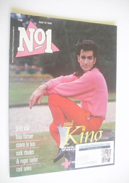 <!--1985-08-10-->No 1 Magazine - Paul King cover (10 August 1985)