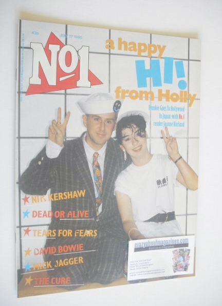 <!--1985-07-27-->No 1 Magazine - Holly Johnson and Joanne Harland cover (27