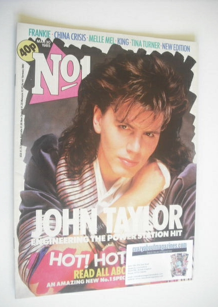 <!--1985-03-30-->No 1 Magazine - John Taylor cover (30 March 1985)