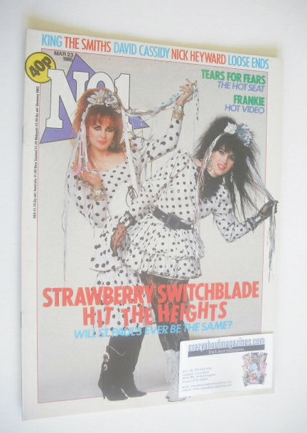 <!--1985-03-23-->No 1 Magazine - Strawberry Switchblade cover (23 March 198