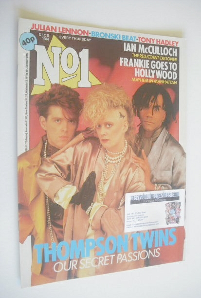 <!--1984-12-08-->No 1 Magazine - The Thompson Twins cover (8 December 1984)