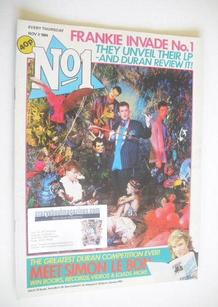 <!--1984-11-03-->No 1 Magazine - Frankie Goes To Hollywood cover (3 Novembe