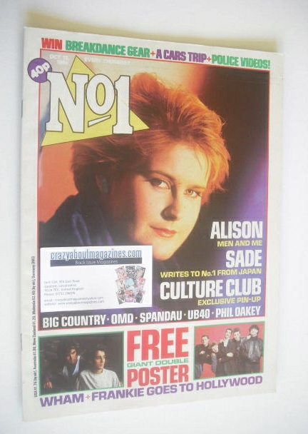 <!--1984-10-13-->No 1 Magazine - Alison Moyet cover (13 October 1984)