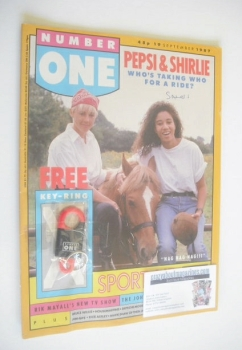 NUMBER ONE magazine - Pepsi & Shirlie cover (19 September 1987)