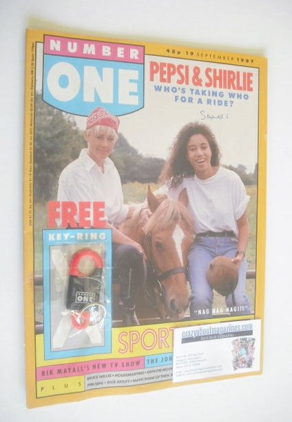 <!--1987-09-19-->NUMBER ONE magazine - Pepsi & Shirlie cover (19 September