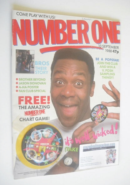 <!--1988-09-10-->NUMBER ONE magazine - Lenny Henry cover (10 September 1988