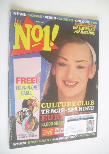 <!--1983-05-07-->No 1 magazine - Boy George cover (7 May 1983)