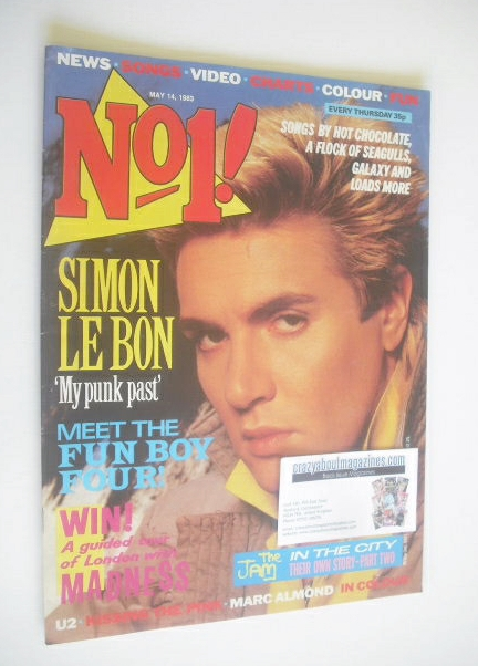 <!--1983-05-14-->No 1 magazine - Simon Le Bon cover (14 May 1983)