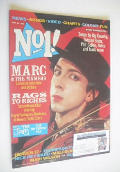 <!--1983-05-21-->No 1 magazine - Marc Almond cover (21 May 1983)