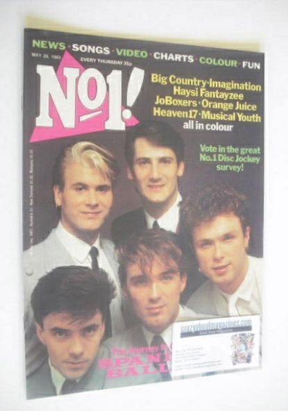 <!--1983-05-28-->No 1 magazine - Spandau Ballet cover (28 May 1983)