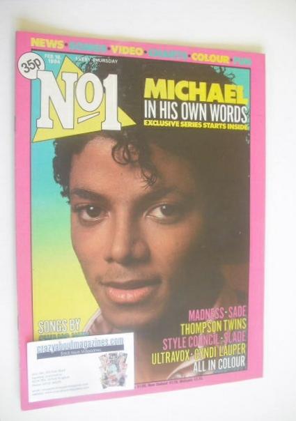 <!--1984-02-18-->No 1 magazine - Michael Jackson cover (18 Feburary 1984)