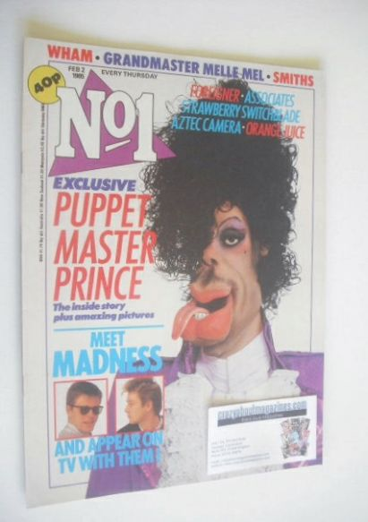 <!--1985-02-02-->No 1 magazine - Puppet Prince cover (2 February 1985)