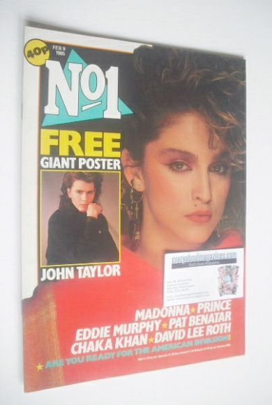 <!--1985-02-09-->No 1 magazine - Madonna cover (9 February 1985)