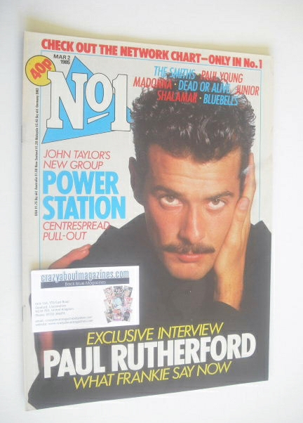 <!--1985-03-02-->No 1 Magazine - Paul Rutherford cover (2 March 1985)