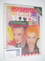 <!--1983-12-01-->Smash Hits magazine - Boy George and Annie Lennox cover (Christmas 1983)