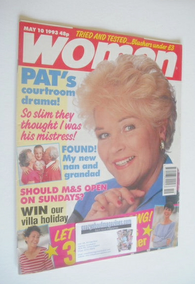 <!--1993-05-10-->Woman magazine - Pam St Clement (10 May 1993)