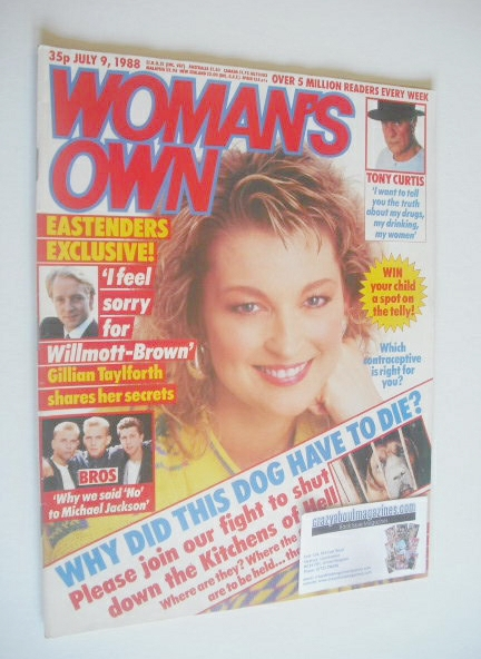 <!--1988-07-09-->Woman's Own magazine - 9 July 1988 - Gillian Taylforth cov