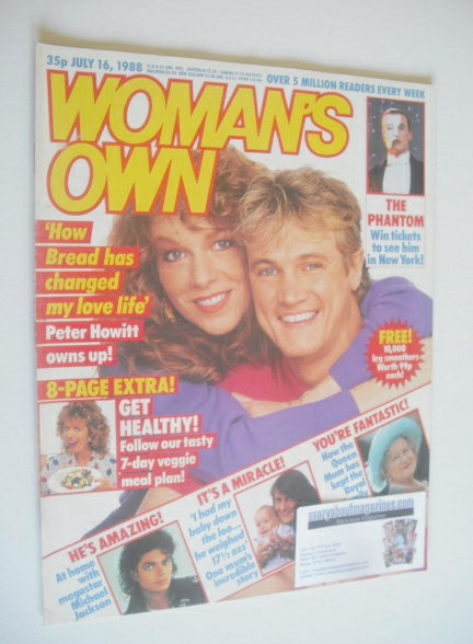 <!--1988-07-16-->Woman's Own magazine - 16 July 1988 - Peter Howitt and Gil