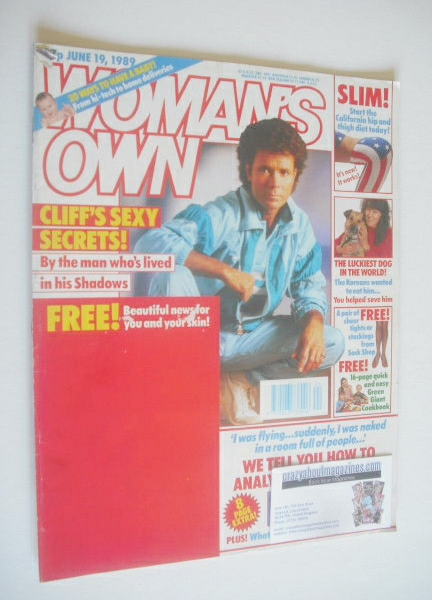 <!--1989-06-19-->Woman's Own magazine - 19 June 1989 - Cliff Richard cover