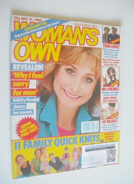 <!--1989-07-31-->Woman's Own magazine - 31 July 1989 - Felicity Kendal cove