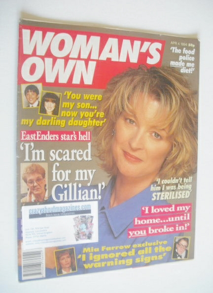 <!--1994-04-04-->Woman's Own magazine - 4 April 1994 - Gillian Taylforth co