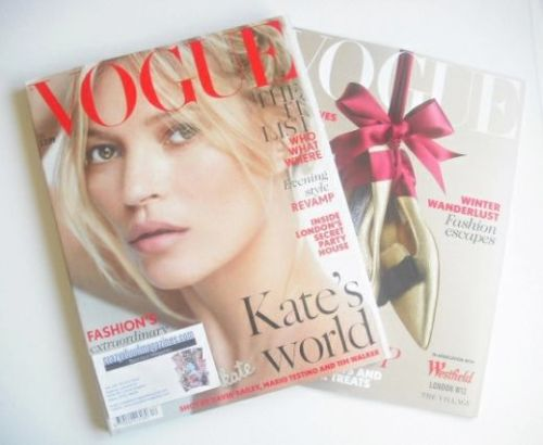 <!--2014-12-->British Vogue magazine - December 2014 - Kate Moss cover