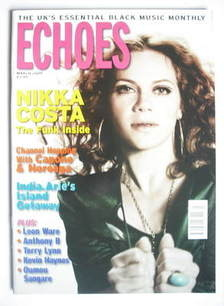 Echoes magazine - Nikka Costa cover (March 2009)