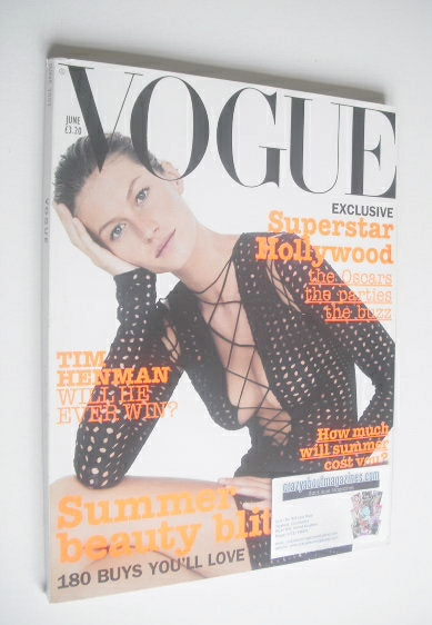 <!--2002-06-->British Vogue magazine - June 2002 - Gisele Bundchen cover