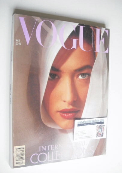<!--1989-03-->British Vogue magazine - March 1989 - Tatjana Patitz cover -