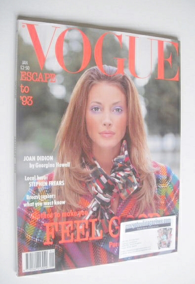 <!--1993-01-->British Vogue magazine - January 1993 - Christy Turlington co