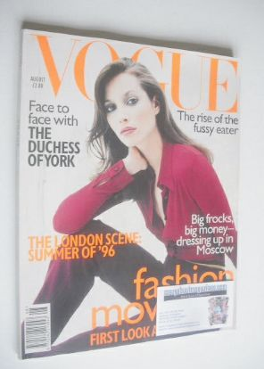 <!--1996-08-->British Vogue magazine - August 1996 - Christy Turlington cov