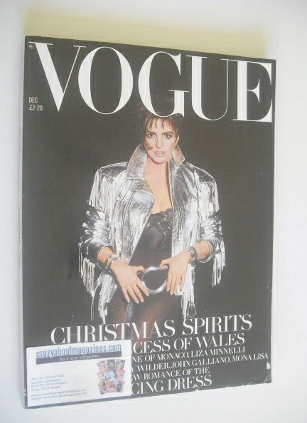 <!--1989-12-->British Vogue magazine - December 1989 - Liza Minnelli cover