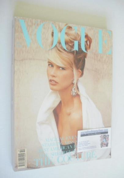 <!--1989-10-->British Vogue magazine - October 1989 - Claudia Schiffer cove
