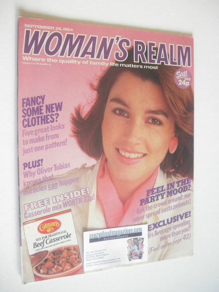<!--1984-09-29-->Woman's Realm magazine (29 September 1984)