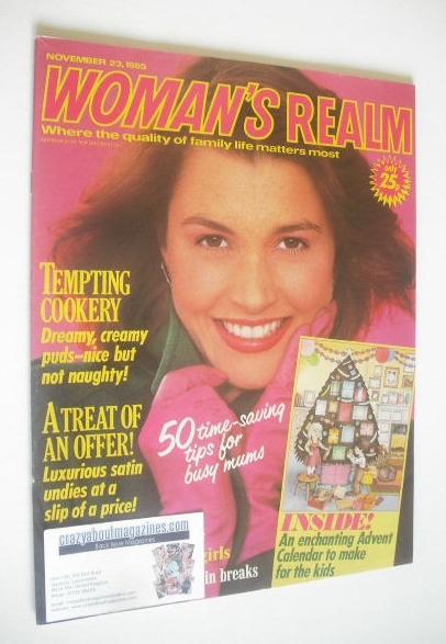 <!--1985-11-23-->Woman's Realm magazine (23 November 1985)