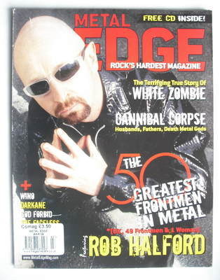 Metal Edge magazine - Rob Halford cover (March 2009)